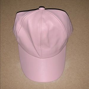 Pink Leather Hat